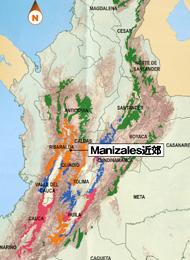 モントーヤ氏の農園があるカルダス州マニサレス