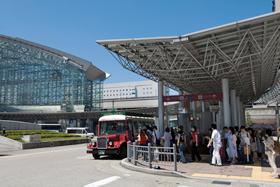 ▲2015年には北陸新幹線が開通する金沢駅。 (写真提供:金沢市)
